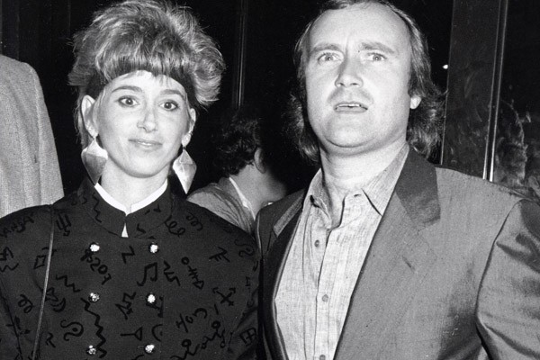 Phil Collins and Jill Tavelman