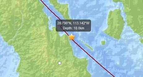 The earthquake had a magnitude of 6.9 (USGS)