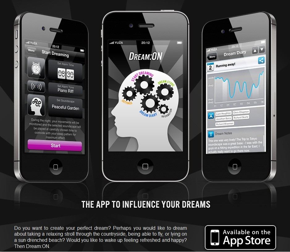 iPhone Dream:ON App