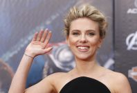 """Cast member Johansson poses at the world premiere of the film """"Marvel's The Avengers"""" in Hollywood, California"""