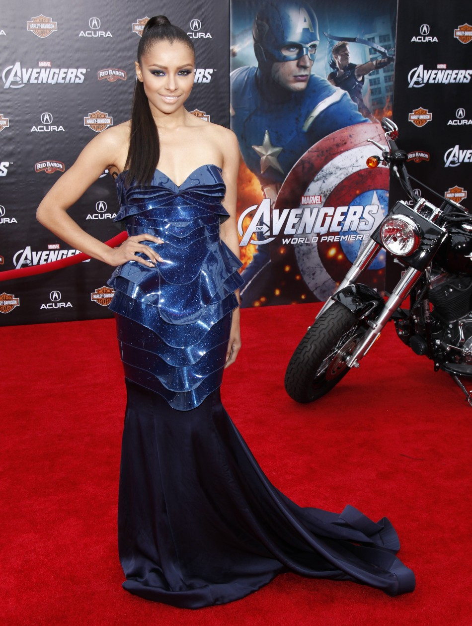 "Actress Graham poses at the world premiere of the film ""Marvel's The Avengers"" in Hollywood"