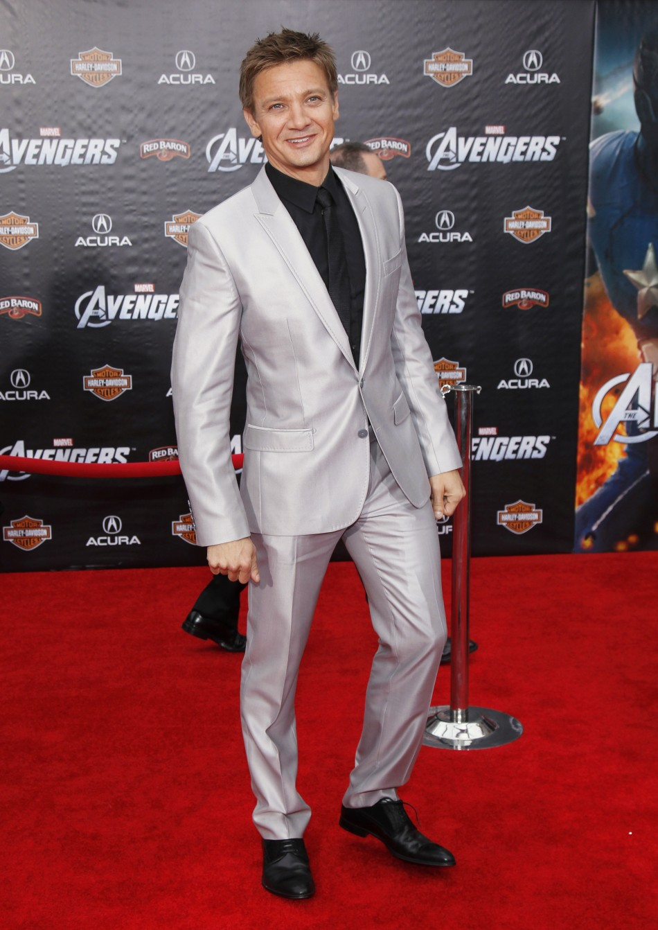 "Cast member Renner poses at the world premiere of the film ""Marvel's The Avengers"" in Hollywood"