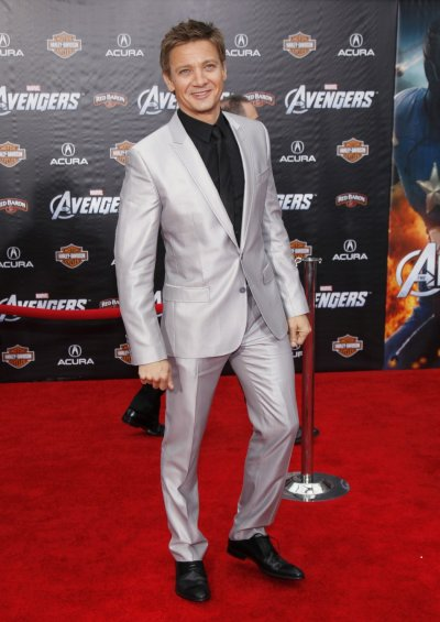 Cast member Renner poses at the world premiere of the film quotMarvels The Avengersquot in Hollywood