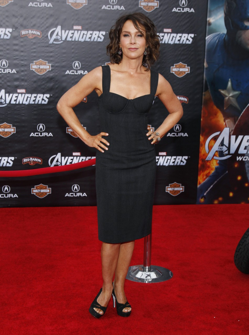 "Actress Grey poses at the world premiere of the film ""Marvel's The Avengers"" in Hollywood, California"