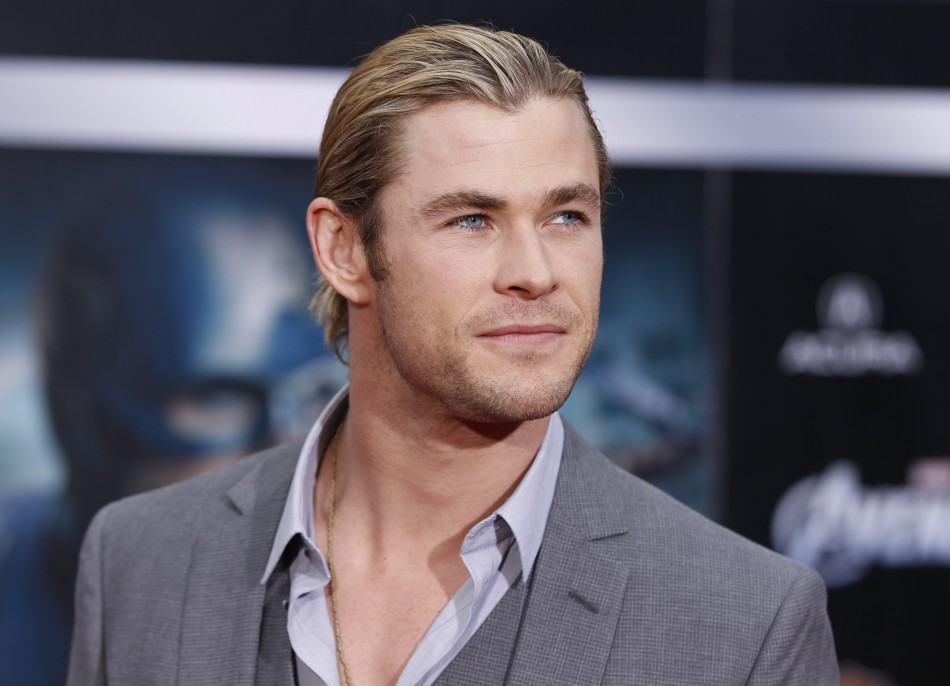 "Cast member Chris Hemsworth poses at the world premiere of the film ""Marvel's The Avengers"" in Hollywood, California"