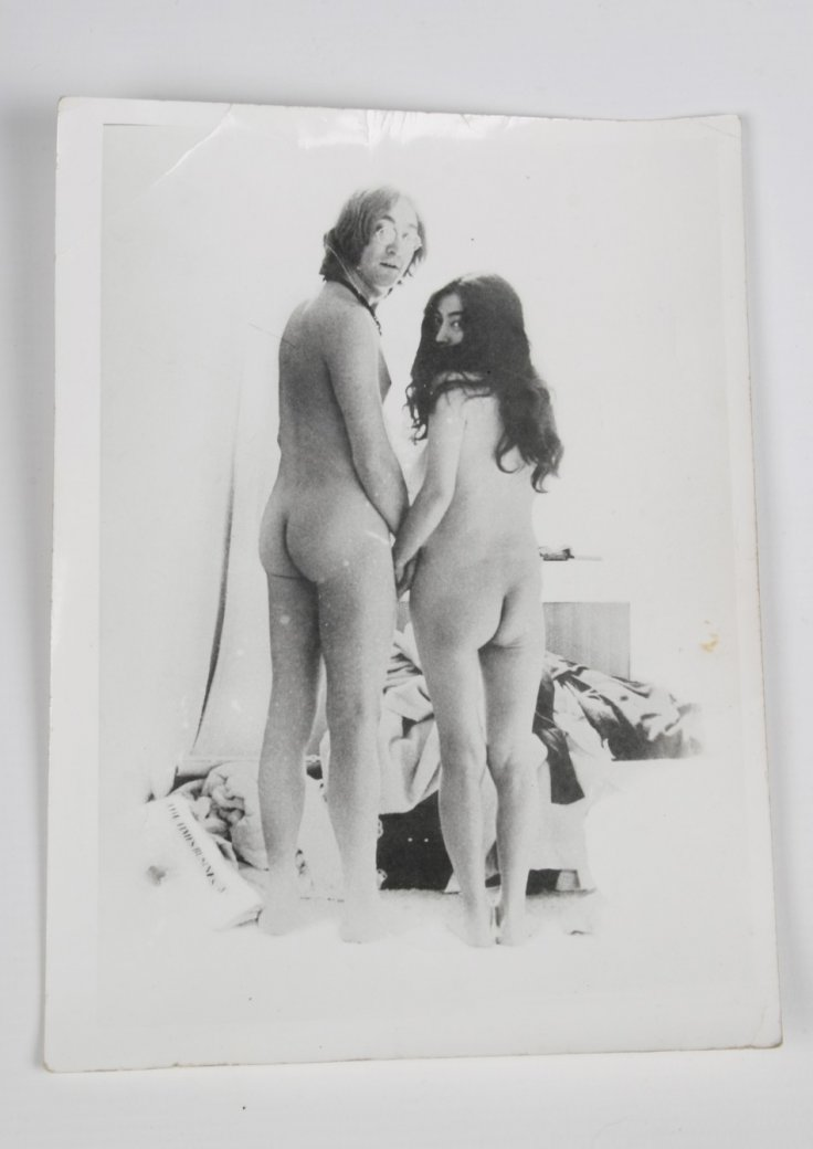 Rear view of naked pair was used on reverse of album cover
