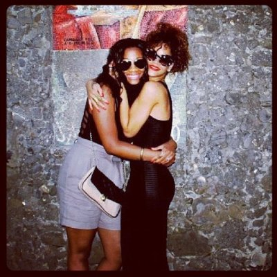Rihanna partying