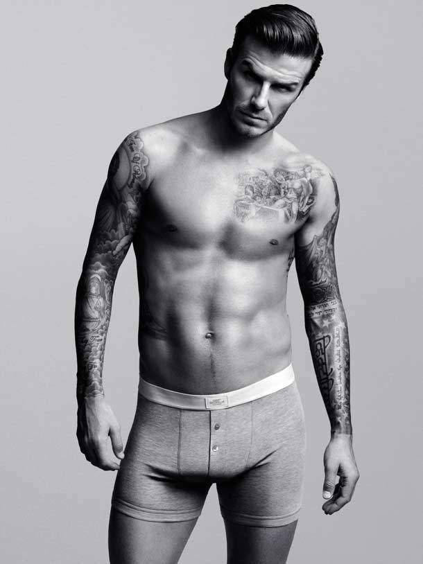 David Beckham can regularly be seen wearing next to nothing in giant billboards everywhere and now Beckham039s sleek physique will be featured somewhere else - Elle UK.