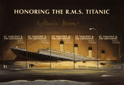 Commemorative Titanic Stamps on Display aboard 100th Anniversary Cruise