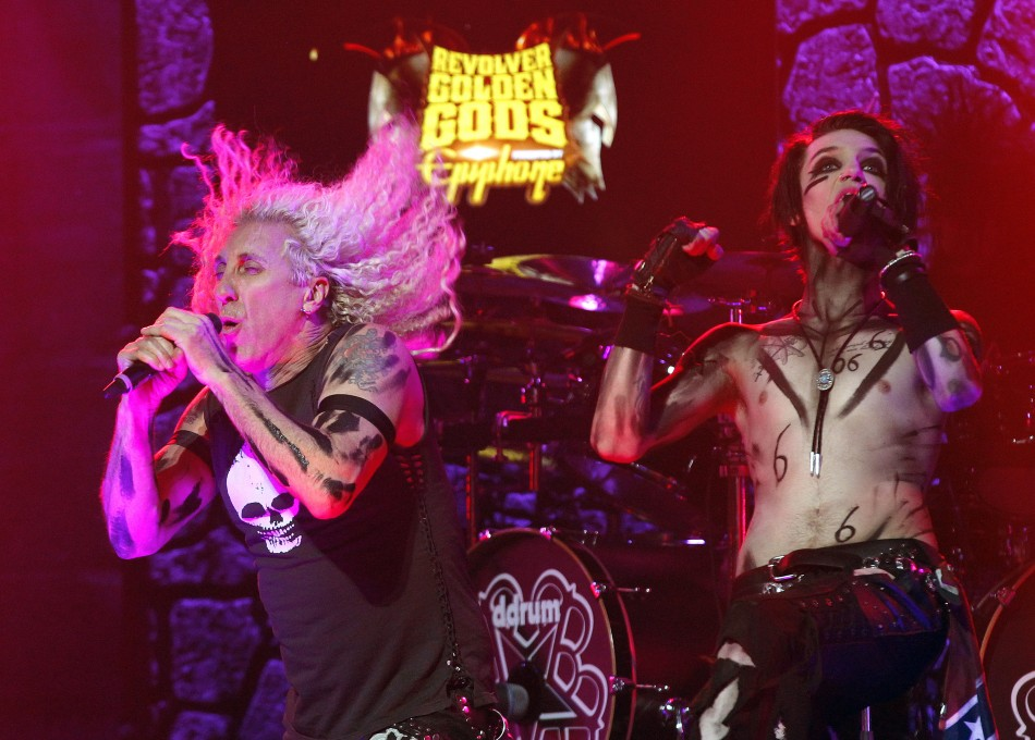 Andrew Biersack of Black Veil Brides and singer Dee Snider perform at the fourth annual Golden Gods awards at Nokia theatre in Los Angeles