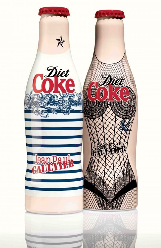 Jean Paul Gaultier designs limited edition bottles for Diet Coke