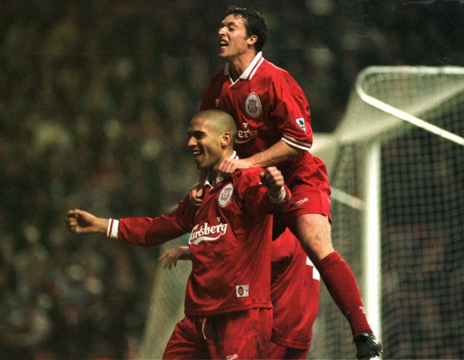 LIVERPOOL'S COLLYMORE SCORES AGAINST ASTON VILLA