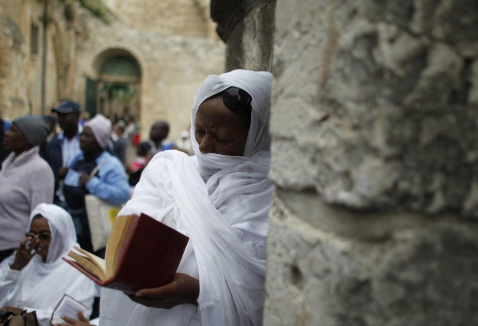 Ethiopian Orthodox worshippers at prayer