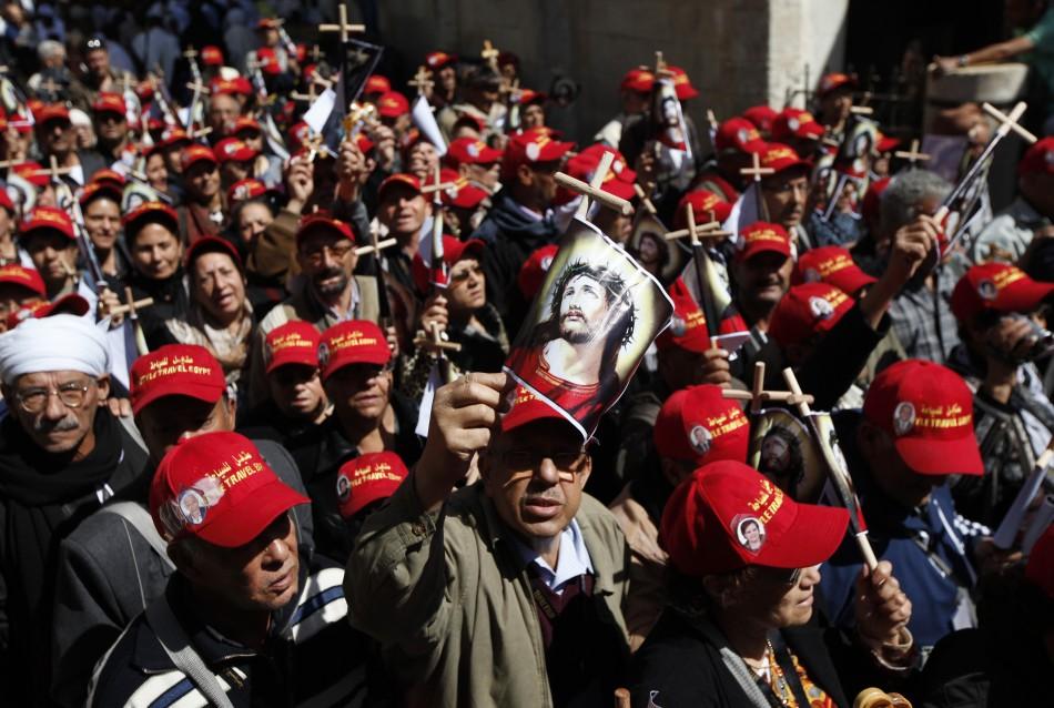Jerusalem swarms with Orthodox pilgrims
