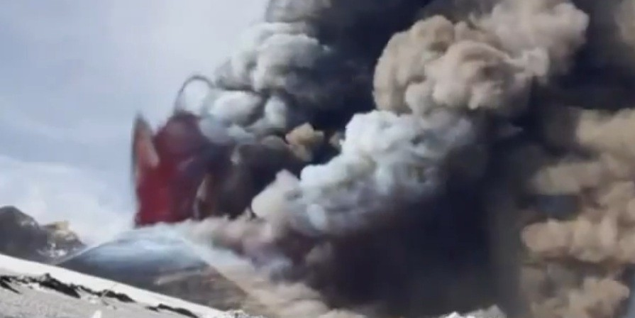 Mount Etna has has spewed lava three times in the past month (YouTube)