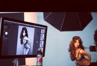Kim Kardashian during her photo shoot