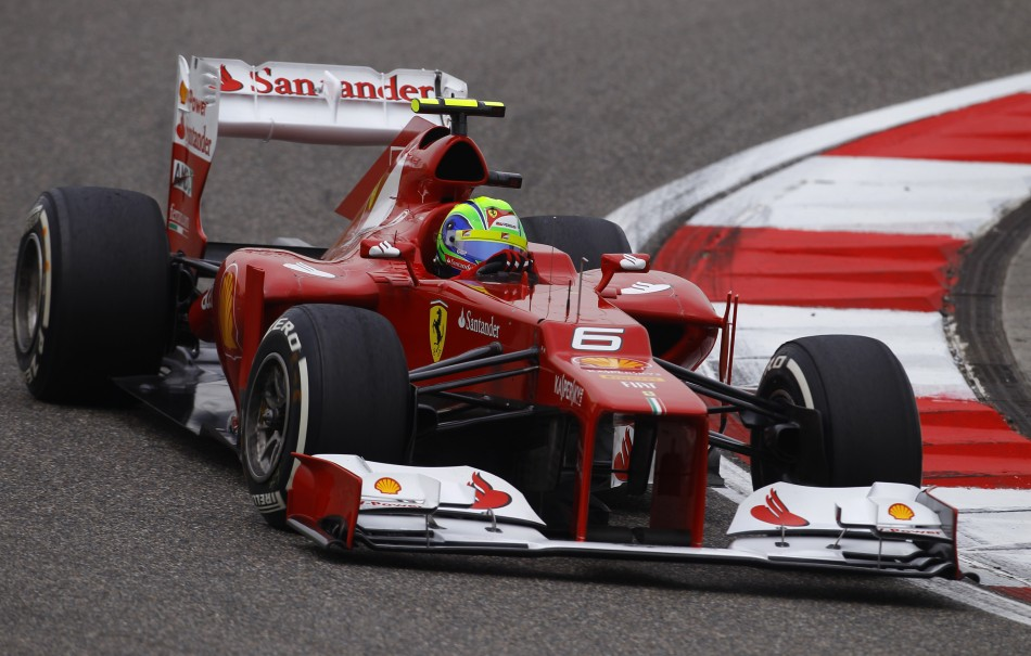 Ferrari Formula One driver Massa drives during the qualifying session of the Chinese F1 Grand Prix at Shanghai circuit