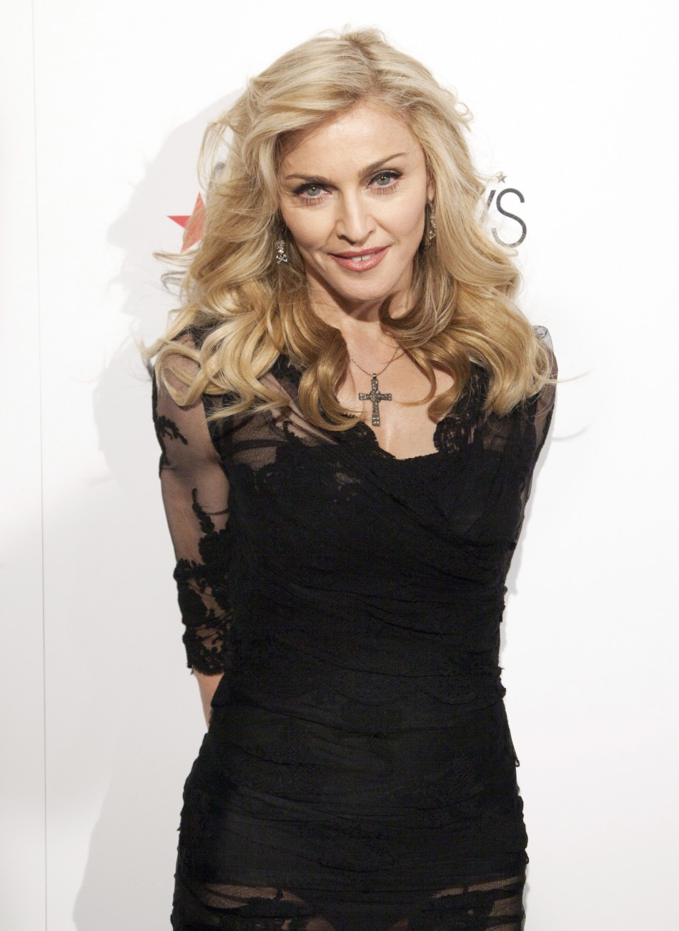 Madonna at the launch of her perfume 'Truth or Dare'