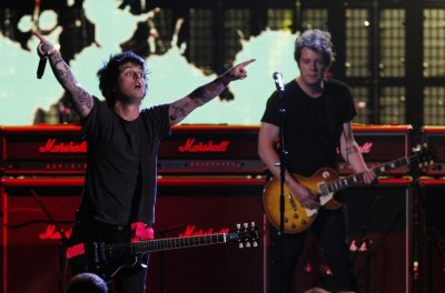 Billie Jo Armstrong of Green Day performs during the 2012 Rock n Roll Hall of Fame induction cermony in Cleveland, Ohio