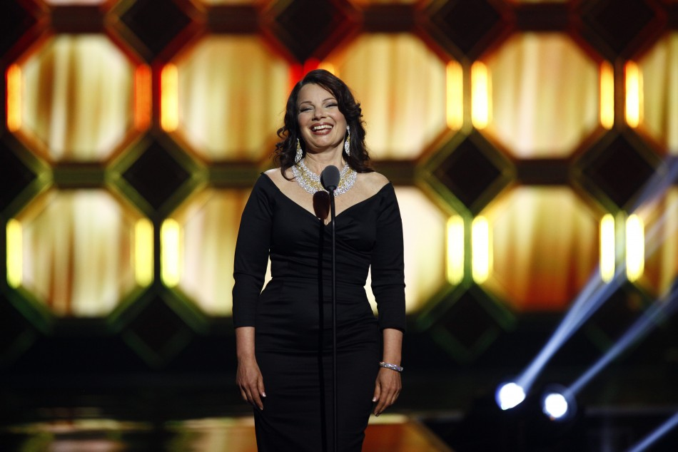 Actress Fran Drescher presents an award during the 10th Anniversary TV Land Awards in New York