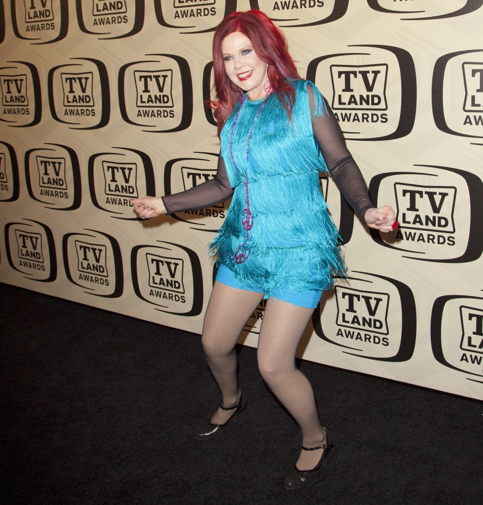 Singer Pierson of the B-52s arrives for the 10th Annual TV Land Awards at the Lexington Avenue Armory in New York