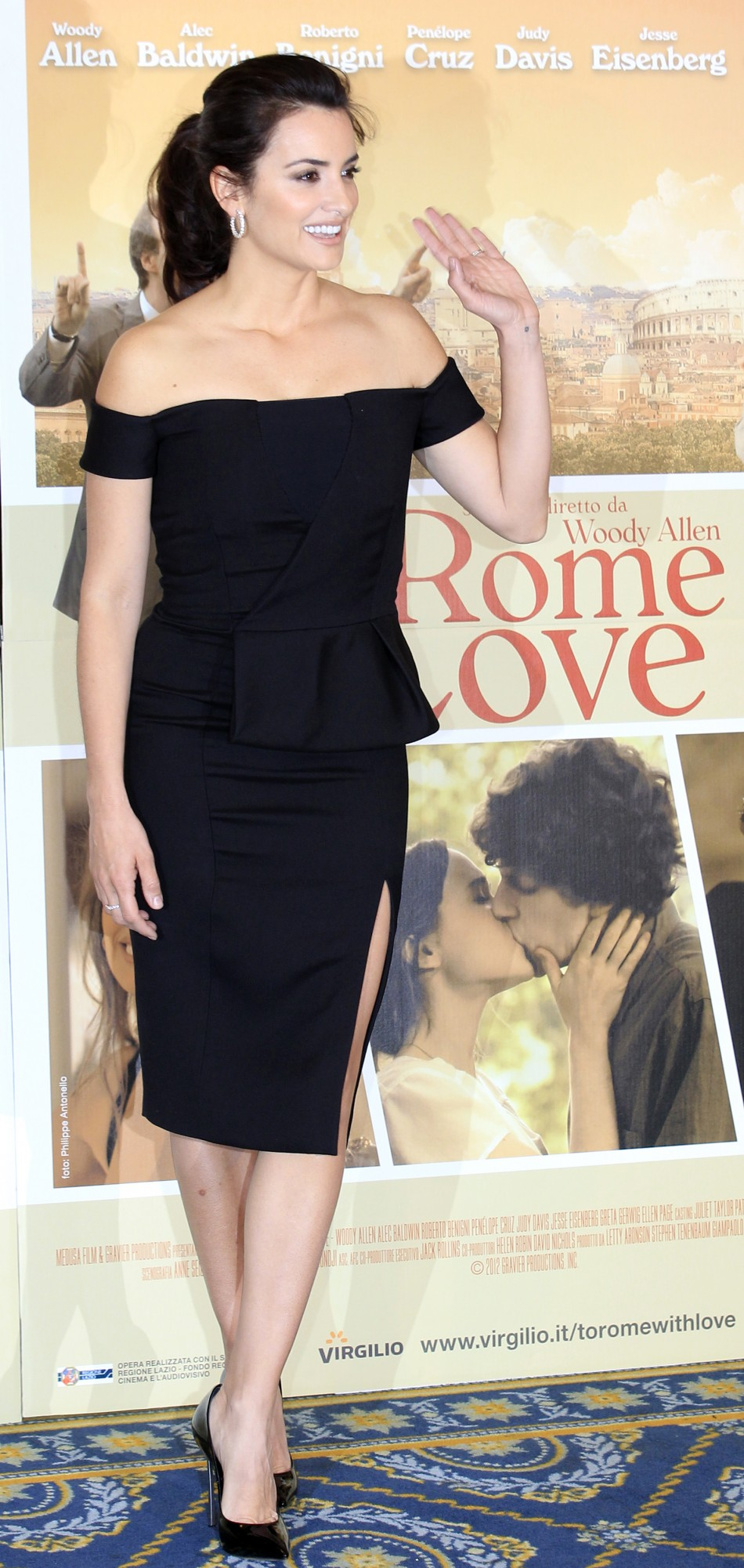 "Spanish actress Penelope Cruz poses during a photocall for the film"" To Rome with Love"" by US director Woody Allen in Rome"