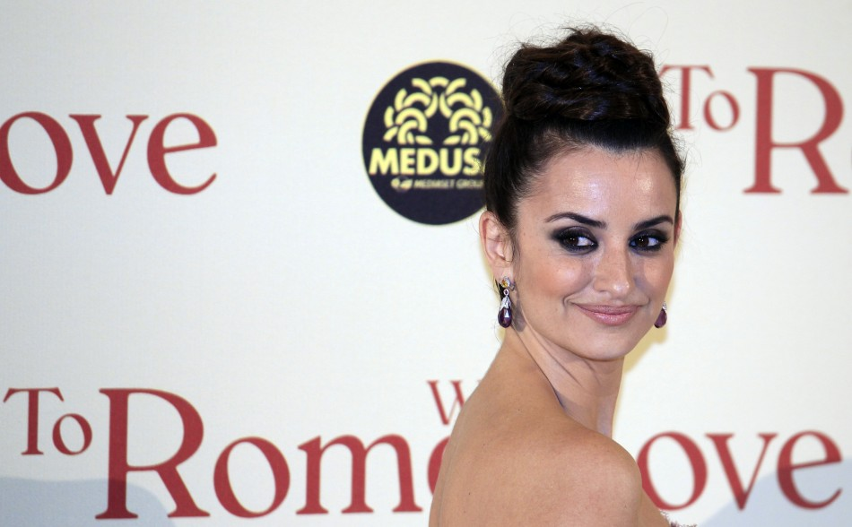 Spanish actress Penelope Cruz poses during the premiere of the film quotTo Rome with Lovequot by U.S. director Woody Allen in Rome