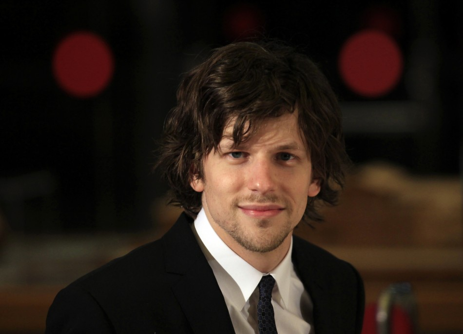 "Cast member Jesse Eisenberg poses during the premiere of the film ""To Rome with Love"" by U.S. director Woody Allen in Rome"