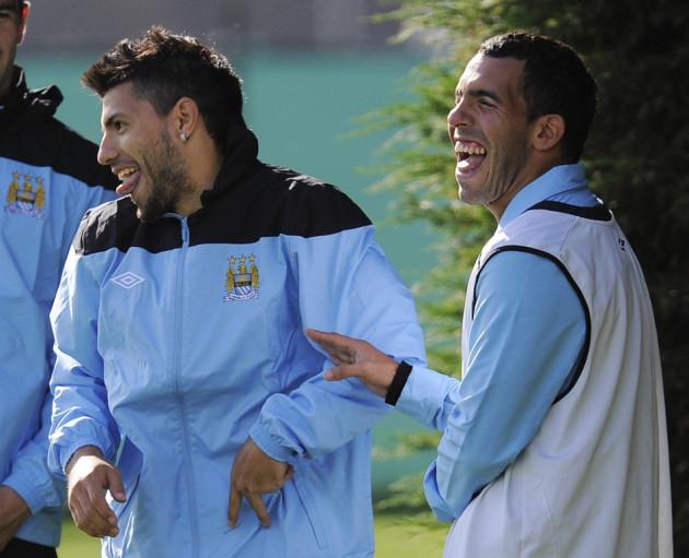 Sergio Aguero and Carlos Tevez