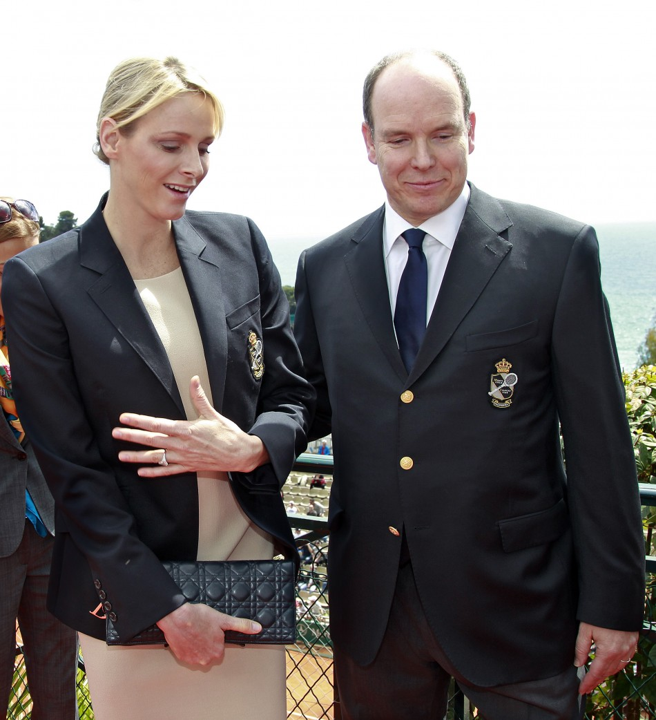 Princess Charlene Back to Boring Black and Beige during the 2012 Monte Carlo Masters