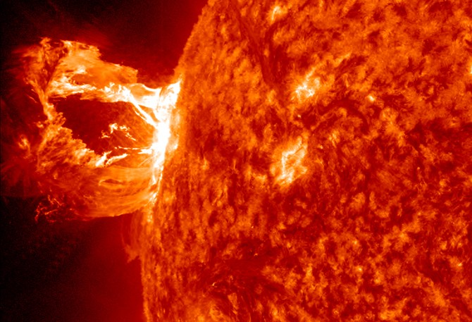 NASA's Solar Dynamics Observatory captures eruption