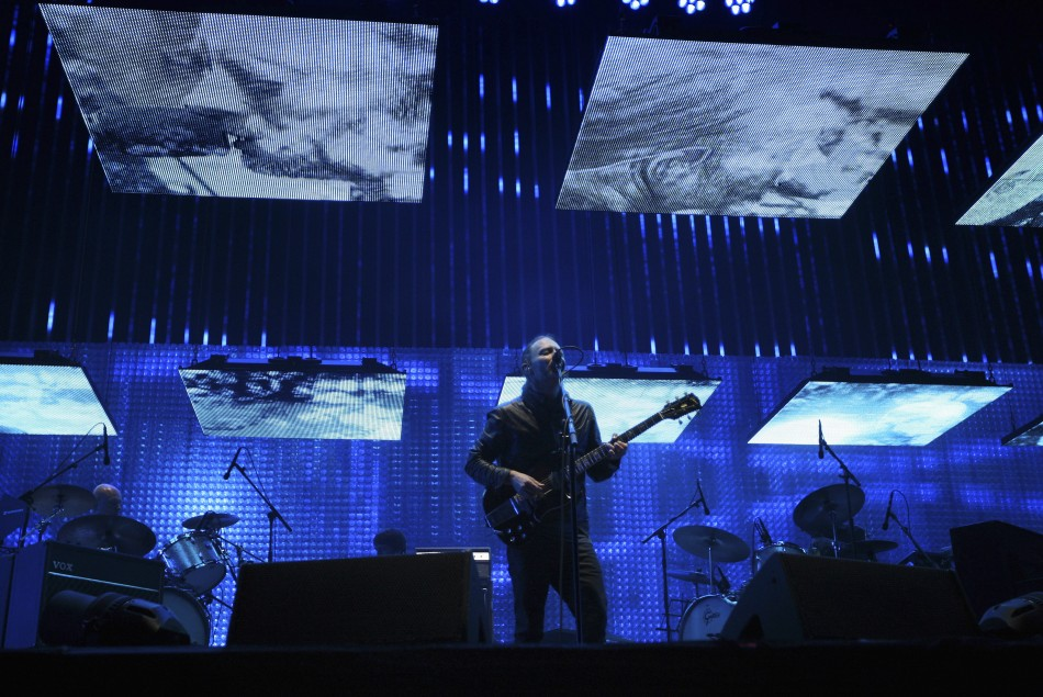 Yorke performs with Radiohead at the Coachella Valley Music and Arts Festival in Indio