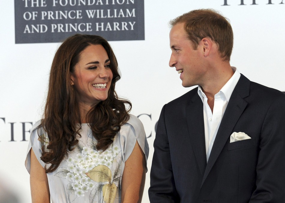Britains Prince William and his wife Catherine, Duchess of Cambridge, attend a charity event held at the Santa Barbara Polo and Racquet Club