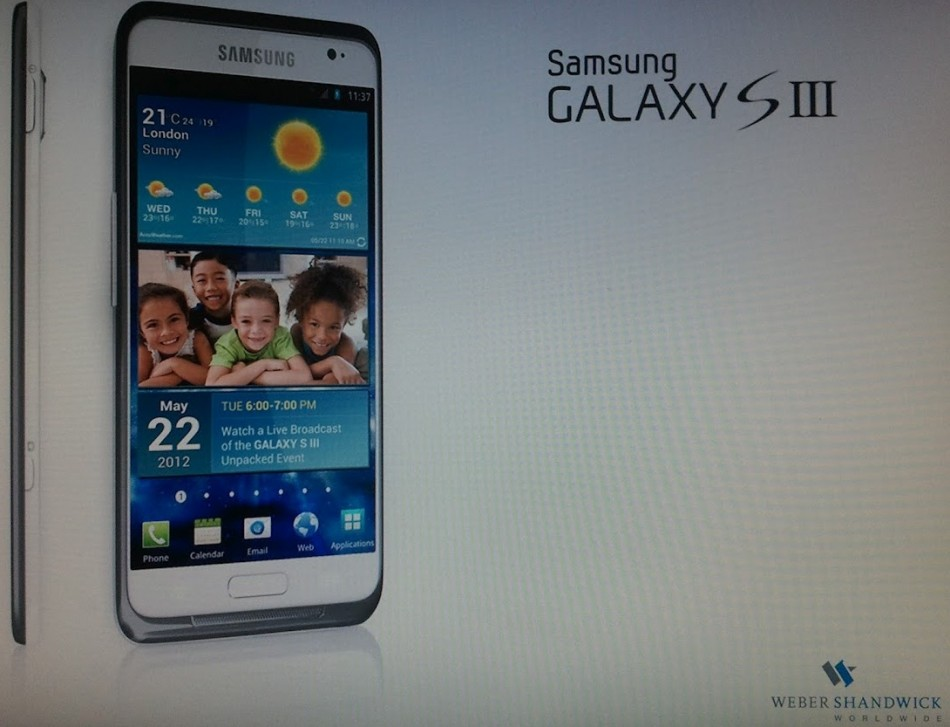 Samsung Galaxy S3 Photo Leaked March 17