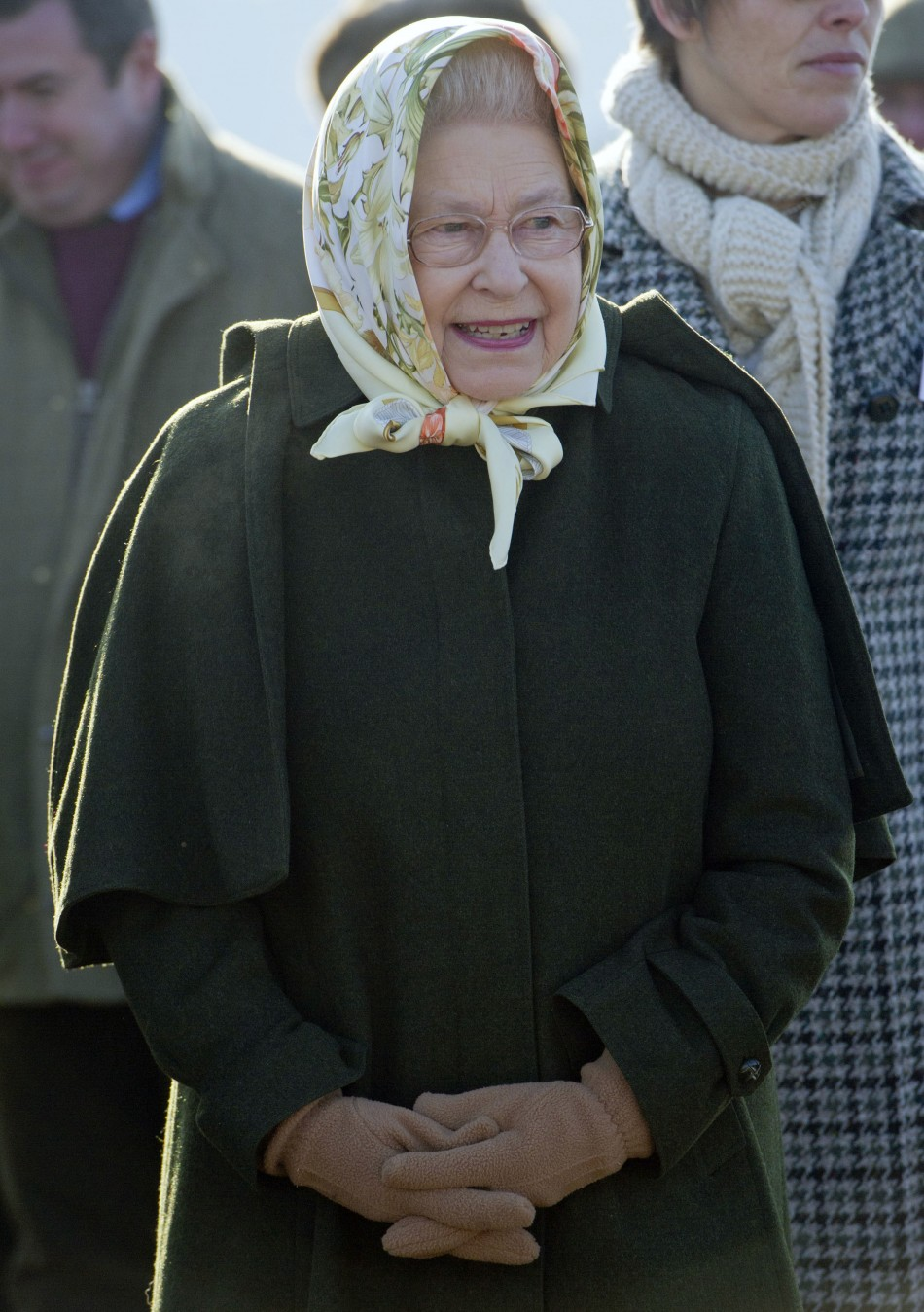 Britain's Queen Elizabeth attends a tree planting ceremony in the Diamond Jubilee Wood on her Sandringham Estate in Norfolk
