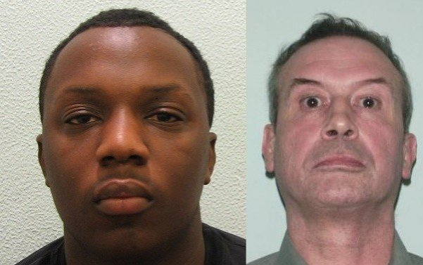 Darrell Desuze (left) sentenced to eight years for killing pensioner Richard Mannington Bowes (Met Police)