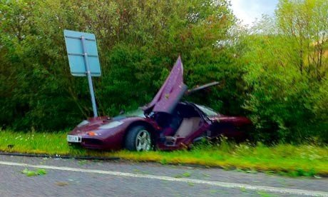 Mr Bean actor Rowan Atkinson famous crash what is arguably one of the most desirable cars of all time, when he ploughed his McLaren F1 into a tree in Cambridgeshire