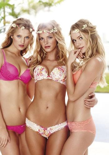 Erin Heatherton and Lindsay Ellingson Dazzles in Victorias Secret New Heavenly Campaign