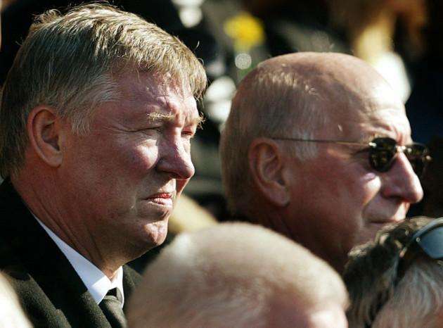 Sir Alex Ferguson and Sir Bobby Charlton