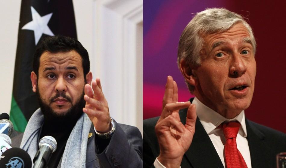 Abdel Hakin Belhadj and Jack Straw