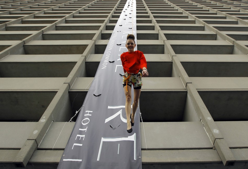Revere Hotel Vertical Fashion Show Models Scale 24 Stories Face First