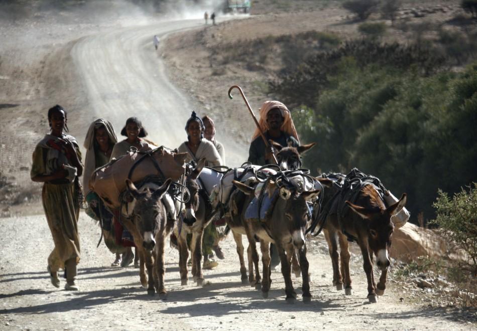 A family in Ethiopia's Afar region