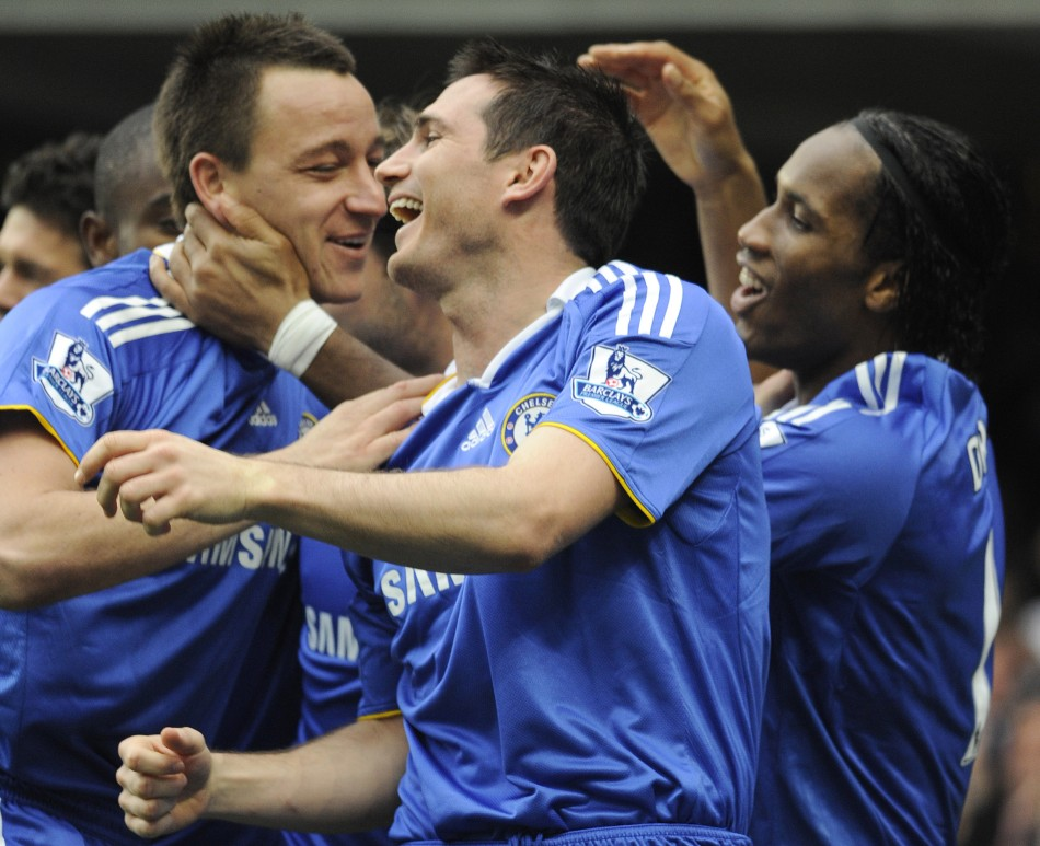 Chelsea senior players John Terry, Frank Lampard and Didier Drogba