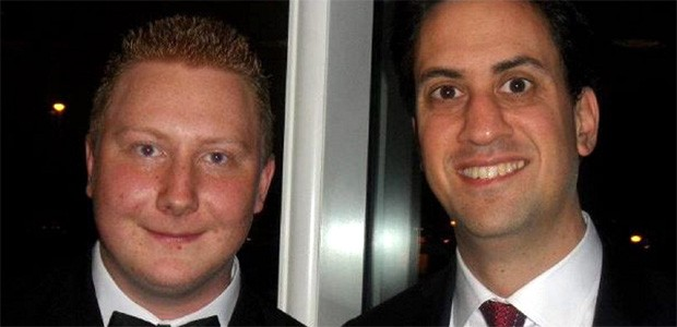James Brinning's (left) Facebook revealed he thought Ed Miliband should resign (Facebook)
