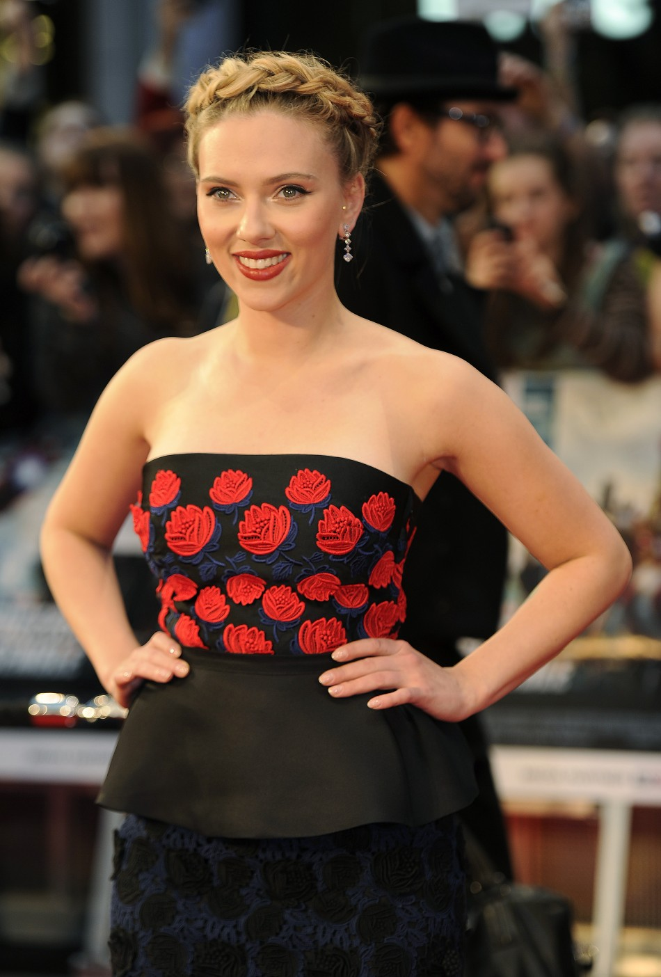 Scarlett Johansson in European 'Avengers' Premiere Red Carpet