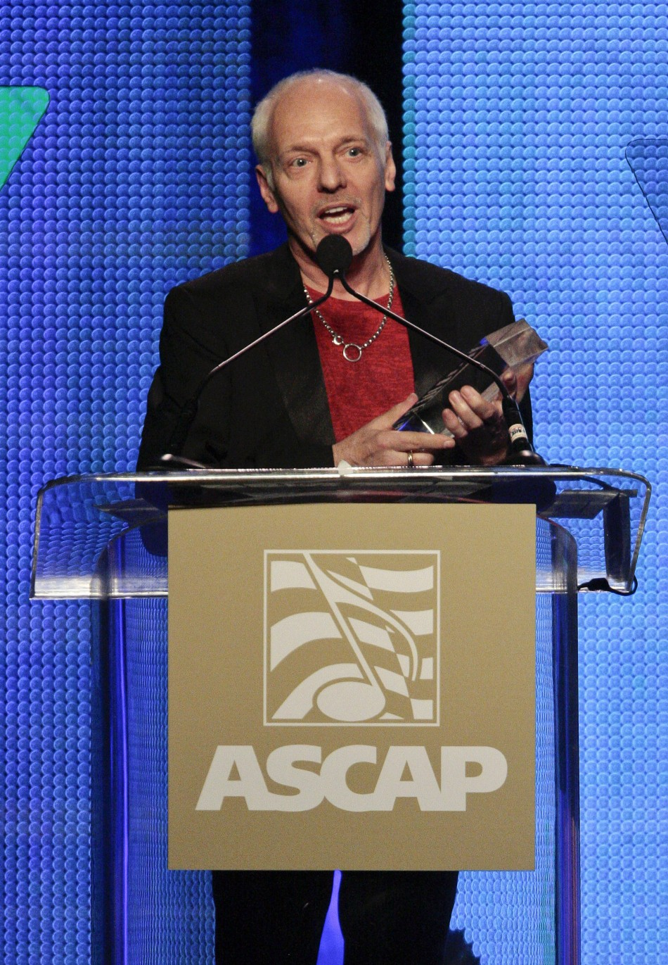 Musician Peter Frampton accepts the Global Impact Award at the 29th Annual ASCAP Pop Music Awards in Hollywood, California