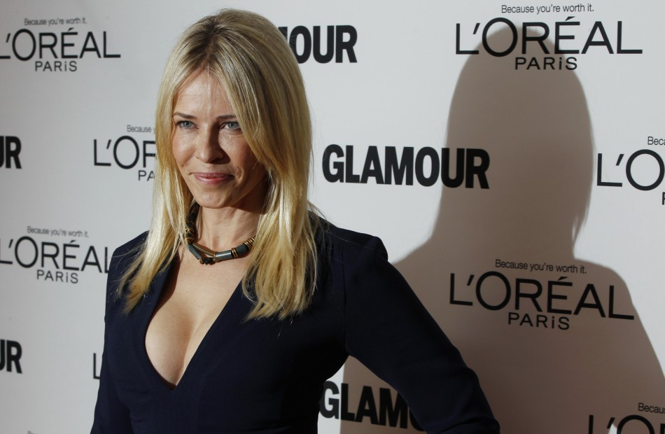 Comedienne Chelsea Handler arrives to attend the 21st annual Glamour Magazine Women of the Year award ceremony in New York