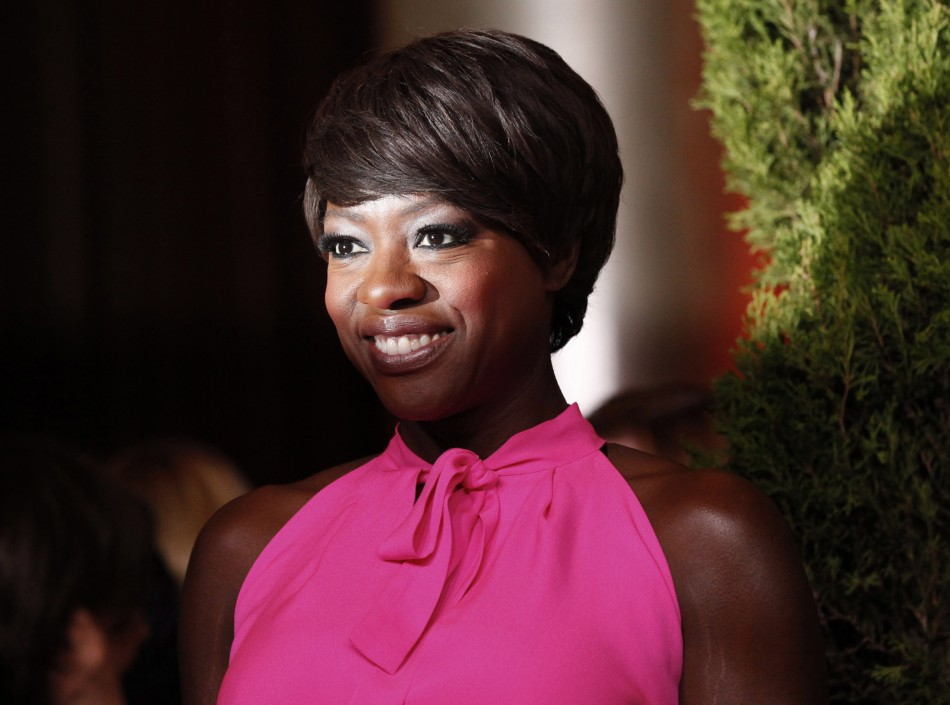 """Actress Viola Davis, nominated for best actress for her role in """"The Help"""" arrives at the 84th Academy Awards nominees luncheon in Beverly Hills"""