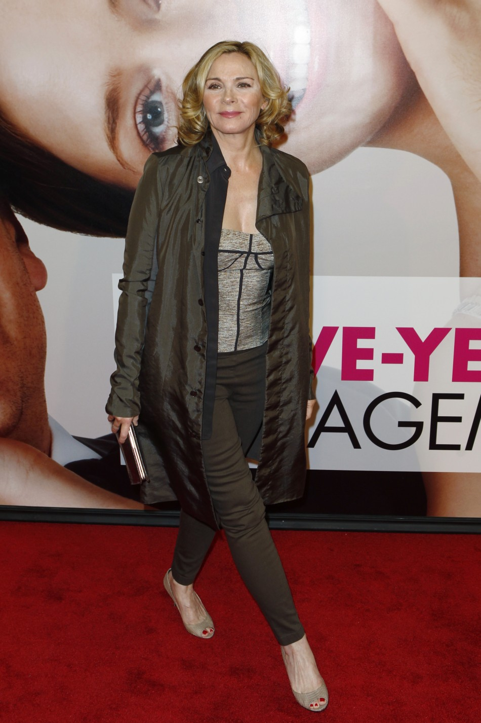 "Actress Kim Cattrall arrives for the premiere of the film ""The Five-Year Engagement"" to begin the 2012 Tribeca Film Festival in New York"
