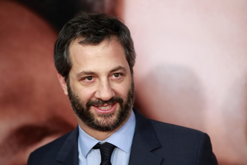 "Director Judd Apatow arrives for the premiere of the film ""The Five-Year Engagement"" to begin the 2012 Tribeca Film Festival in New York"